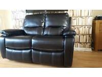 Sale! NEW Real Italian Leather Designer Venus 2 Seater Luxury Recliner Sofa DELIVERY AVAILABLE