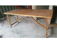 folding table suitable for use when you wallpaper or car boot sale