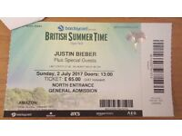 Ticket for the British Summer Time - Justin Bieber in concert
