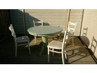 Round table and chairs - shabby chic