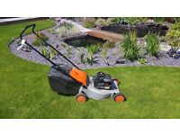 Petrol lawn mower, a Flymo Quicksilver 35, rotary