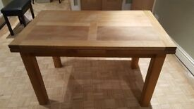 Solid Oak Dining Extendable Dining Table