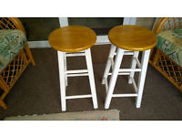 2 X Strong wooden breakfast/bar stools £10.00 the pair