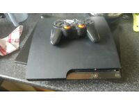 120 gb ps3 console and 4 games for sale