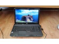 acer aspire 5735 windows 7 4g memory 150g hard drive webcam wifi dvd drive battery holds a charge