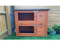 4 ft Double Tier Hutch and Cover