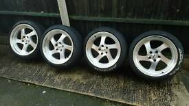 5x114 WHISTLERS JDM STANCE 9.5J ALLOY WHEELS