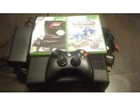 Slim xbox 360 250gb and two games