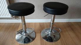 2 Gas Lift Bar stools.