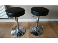 2 Gas Lift Bar stools.