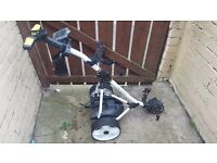 Proforce golf trolley with 18hole battery exellent condition