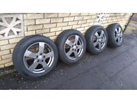 """Dezent TD Graphite 15"""" Alloys to suit VW, AUDI, Skoda & Seat and others"""