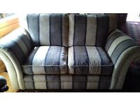 2 seater sofa and 2 matching armchairs.