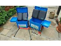 2 Shakespeare fishing seat / boxes