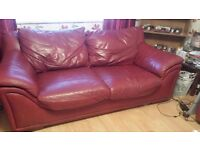 2 x Leather Sofa's