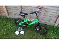 16 inch 'Hotwheels' kid bike + training wheels