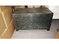 Metal embossed blanket box