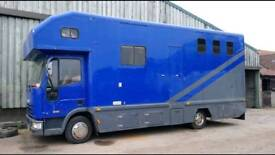 Iveco horsebox horse lorry 7.5t mot till march 2019