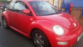 VW BEETLE 2.0 PETROL(PRIVATE PLATE )