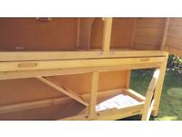 Fantastic Rabbit Hutch & Cover Brand New