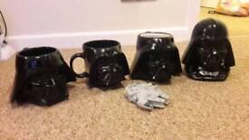 Star wars mugs and money box