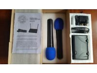 VHF Prosound A71UR Fixed Frequency Wireless Microphone System - Twin Kit
