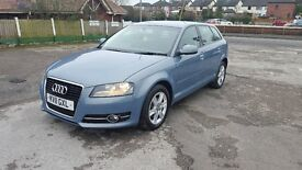 AUDI A3 SE TDI DIESEL TOP CONDITION ONLY £30 ROAD TAX 11 PLATE 12 M MOT AND 3 M NATIOWIDE WARRANTY