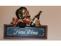 "3D Pub Resturant ""Fine Wine"" Sign"