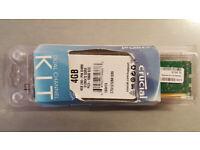 Two Crucial 4GB 240-pin server DIMM RAM modules