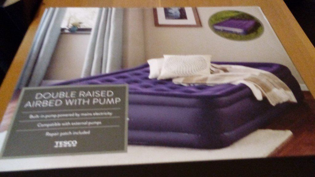 Airbed with electric pump. Size double. Brand New.