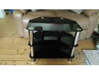 Smoked glass TV stand