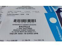 Bastille Princes Street Gardens 09 August - 2 Tickets