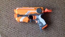 Nerf toy pistols.