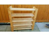 5 Tier Strong Real Wooden Shelves