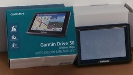Garmin 50LM Satnav UK&Ireland lifetime maps - only opened and tested