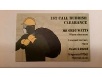 1st call rubbish clearance 07597140303