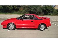 1989 G TOYOTA MR2 MK1 1.6 CLASSIC AW11 83K Miles- -EXCEPTIONAL CONDITION- NO RUST -FSH