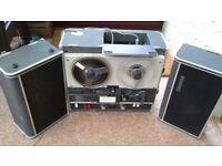 Sony TC 500A vintage retro 1967ish Vaccum Tube REEL to REEL plus 12 reel tapes etc