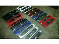 Genuine ford fiesta mk1 mk2 mk3 universal ford center grills xr3i rs finished in factory paint(new)