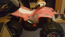Kids pink quad bike