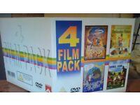 childrens dvd 4 film pack