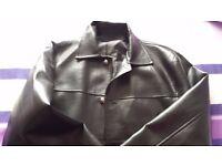 Faux Leather Man Jacket