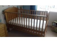 Cotbed and mattress for sale