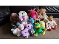 Collection of toys and teddys