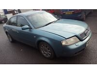 """1999 Audi A6 2.4 Petrol 4 door Saloon Blue. Mileage is only 92K. """"First come First"""""""
