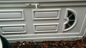 pvc security door in frame front or back