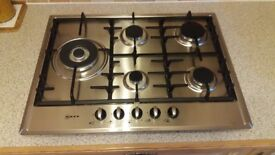 NEFF - Extra wide gas hob Stainless steel- new ex display