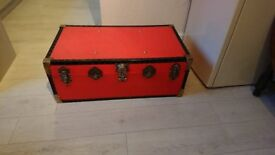 Large Red Steamer Trunk