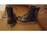 Dr martens black patent leather size 6 worn once