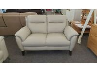 Furniture Village Mercury 2 Seater Feather Grey Leather Sofa Can Deliver